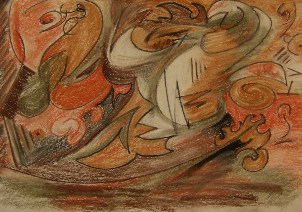 carnival. paper and color pencil, 2009